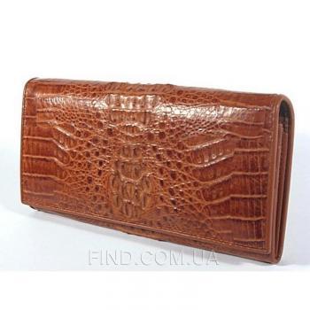 Кошелёк из кожи крокодила River (PCM 79 Cognac)