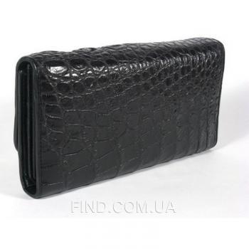 Кошелёк из кожи крокодила River (PPCM 013 black)