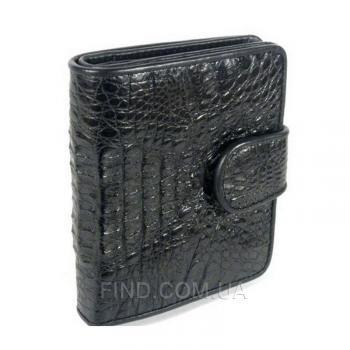 Женский кошелек из кожи крокодила River (PCM 71-H Black)