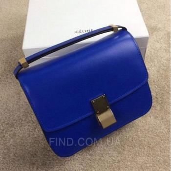 Женская сумка Celine Classic Box Shoulder bag blue (7306) реплика