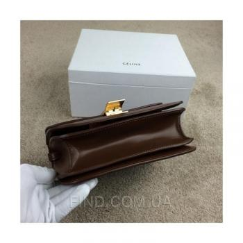 Женская сумка Celine Classic Box Shoulder bag brown (7304) реплика