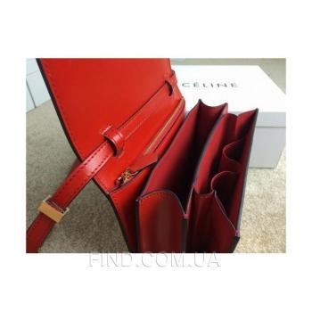 Женская сумка Celine Classic Box Shoulder bag red (7308) реплика