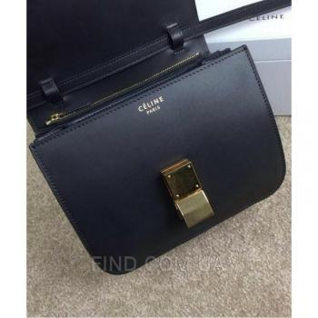 Женская сумка Celine Classic Box Shoulder Bag Black (7307) реплика