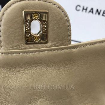 Женская сумка Chanel Mini Flap Beige (8141) реплика