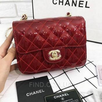 Женская сумка Chanel Mini Flap Red (8133) реплика
