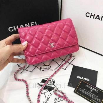 Женская сумка Chanel Woc Fuchsia (8094) реплика
