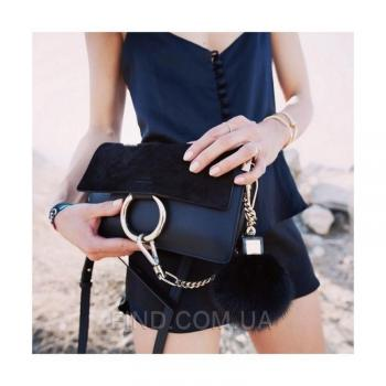 Женская сумка Chloe faye cross-body bag black (2069) реплика