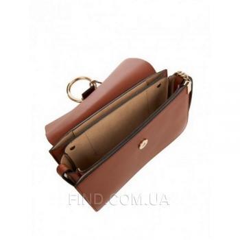 Женская сумка Chloe faye cross-body bag brown (2075) реплика