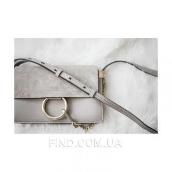 Женская сумка Chloe faye cross-body bag grey (2070) реплика
