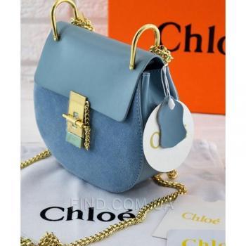 Женская сумка Chloe Drew Mini Blue (2053) реплика