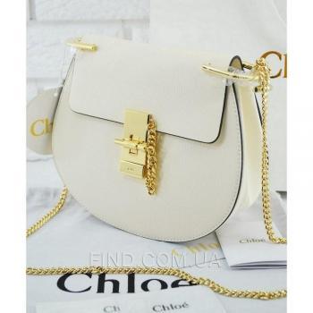 Женская сумка Chloe Drew Mini White (2049) реплика