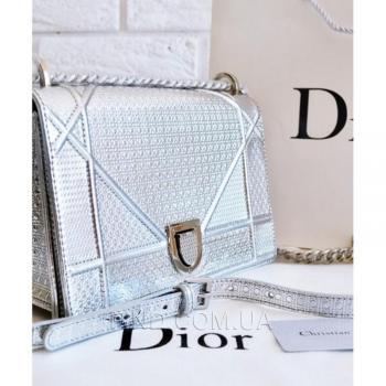 Женская сумка Dior Diorama Metallic Silver (2299) реплика