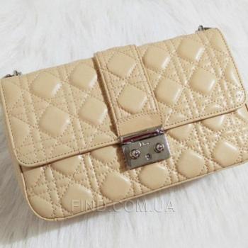 Женская сумка Miss Dior Flap Bag Biege (2263) реплика