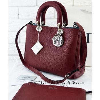 Женская сумка Dior Diorissimo Marsala Medium (2329) реплика