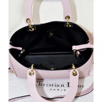 Женская сумка Dior Diorissimo Pink Medium (2328) реплика