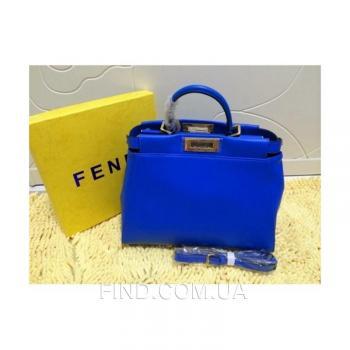 Женская сумка Fendi Peekaboo Medium Blue (2643) реплика
