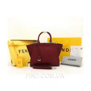 Женская сумка Fendi Petite 3 Jours Bordo (2695) реплика