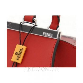 Женская сумка Fendi Petite 3 Jours Maroon (2697) реплика