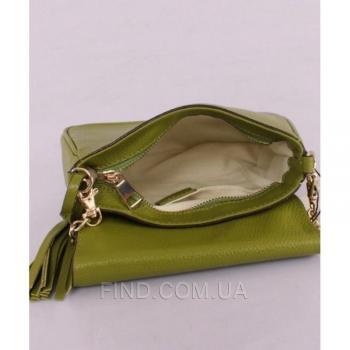 Женская сумка Gucci Soho Chain Shoulder Green Bag (3350) реплика