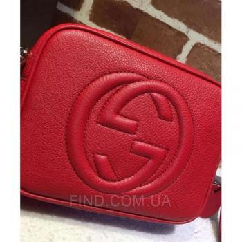 Женская сумка Gucci Soho Disco Red Bag (3440) реплика