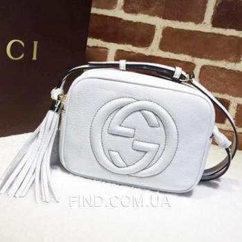 Женская сумка Gucci Soho Disco White Bag (3390) реплика