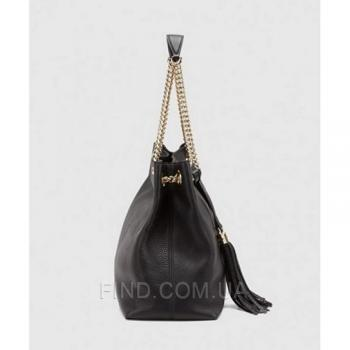 Женская сумка Gucci Soho Tote Black Bag (3472) реплика
