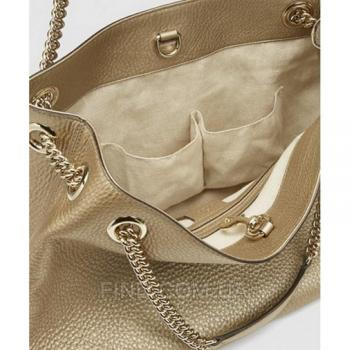 Женская сумка Gucci Soho Tote Gold Bag (3470) реплика