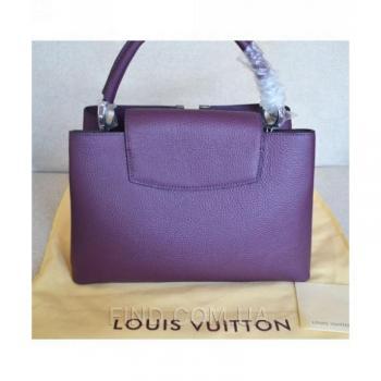 Женская сумка Louis Vuitton Capucines Violet (4030) реплика