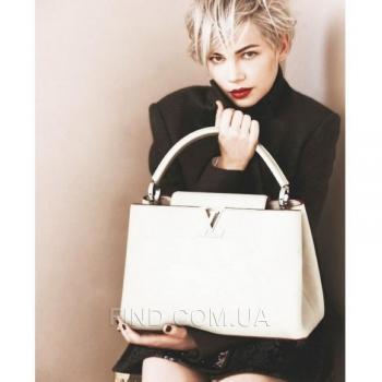 Женская сумка Louis Vuitton Capucines White (4020) реплика