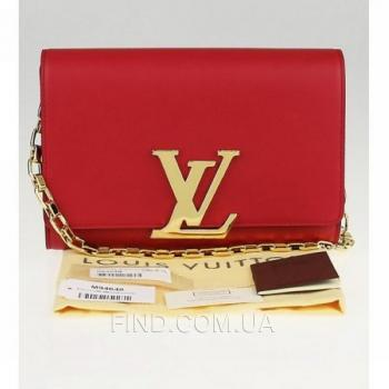 Женская сумка Louis Vuitton MM Chain Red (4070) реплика