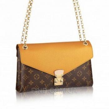 Женская сумка-клатч Louis Vuitton Monogram Canvas Pallas Chain (4066) реплика