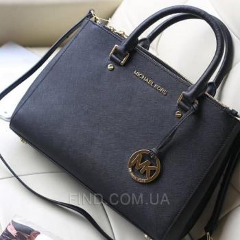 Женская сумка Michael Kors Medium Sutton Black (5542) реплика