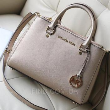 Женская сумка Michael Kors Medium Sutton Gold (5545) реплика