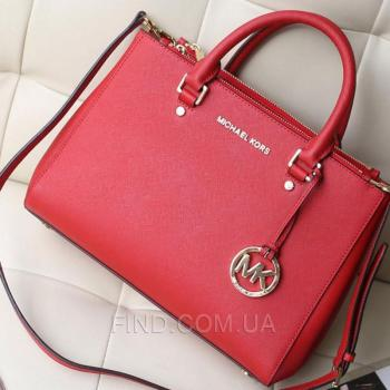 Женская сумка Michael Kors Medium Sutton Red (5500) реплика
