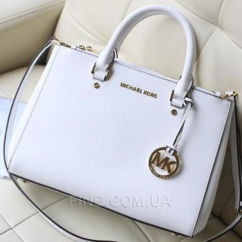 Женская сумка Michael Kors Medium Sutton White (5543) реплика