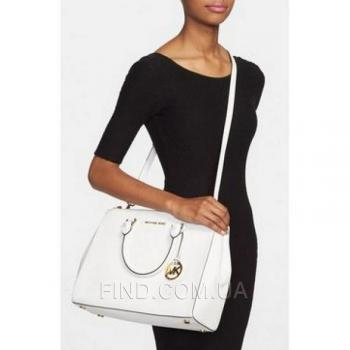 Женская сумка Michael Kors Medium Sutton White (5543) реплика