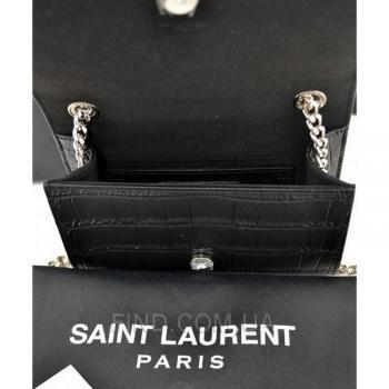 Женская сумка YSL Saint Laurent Tassel Small Crocodile (7273) реплика
