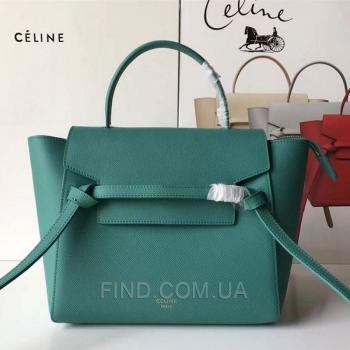Женская сумка Celine Belt Bag Green (7346) реплика