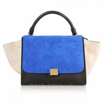 Женская сумка Celine Trapeze Blue (7340) реплика