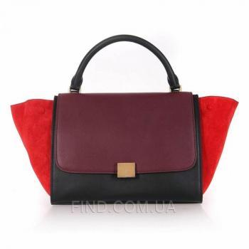 Женская сумка Celine Trapeze Red (7338) реплика