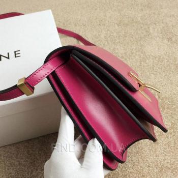 Женская сумка Celine Classic Box Shoulder Bag Fuchsia (7330) реплика