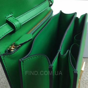 Женская сумка Celine Classic Box Shoulder Bag Green (7330) реплика