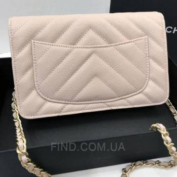 Женская сумка Chanel WOC Chevron Caviar (9774) реплика