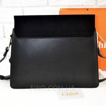 Женская сумка Chloe Faye Large Black (2079) реплика