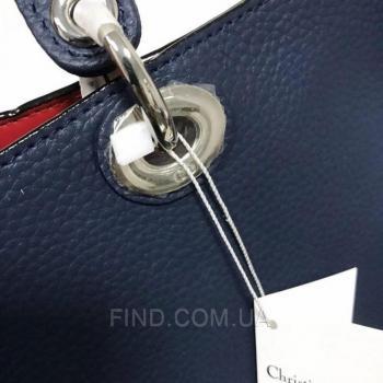 Женская сумка Dior Diorissimo Dark Blue Medium (2322) реплика