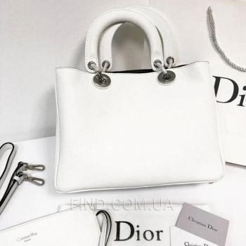 Женская сумка Dior Diorissimo White Medium (2321) реплика