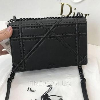 Женская сумка Dior Diorama Studded All Black (2309) реплика