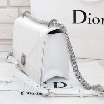 Женская сумка Dior Diorama White (2295) реплика