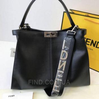 Женская сумка Fendi Peekaboo X Lite Black (2674) реплика