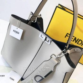 Женская сумка Fendi Peekaboo X Lite Biege (2672) реплика